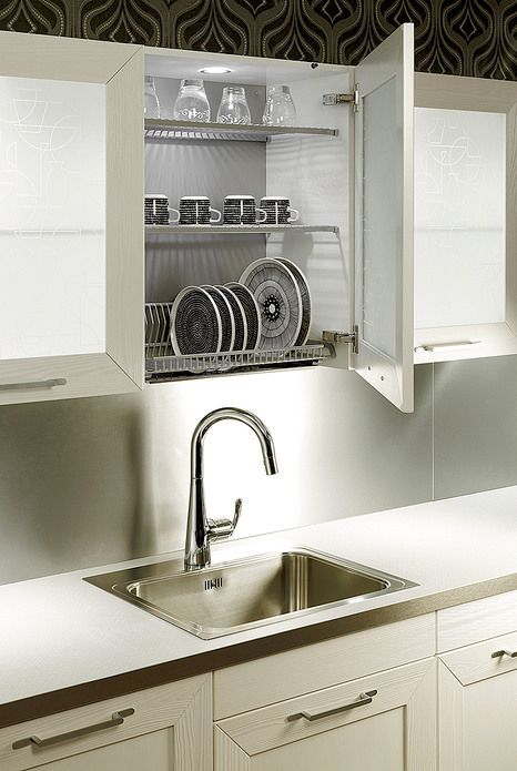 kitchen dish drying mat storage pantry cabinet over the sink rack - google search | ...