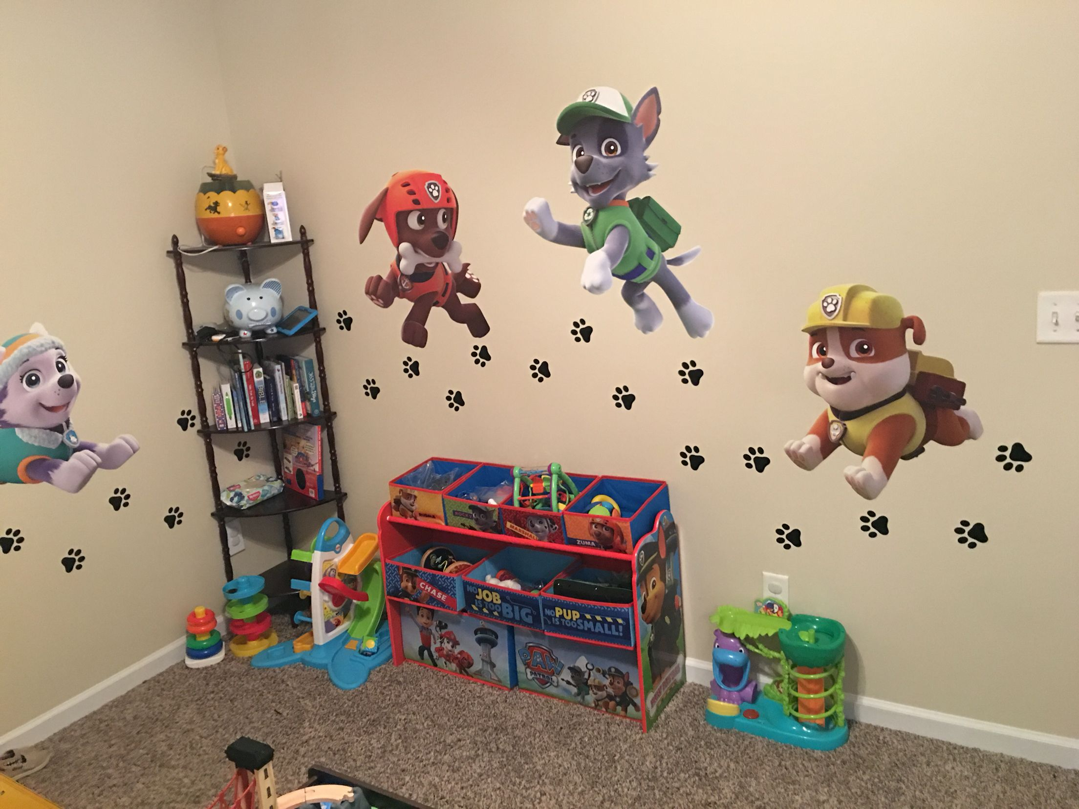 My sons paw patrol bedroom  Reces New Room  Pinterest