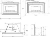 gas fireplace insert rough opening dimensions ...