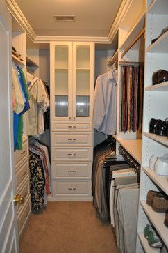 space maximizing solution for small walkin master closet  Dream Home  Pinterest  Master