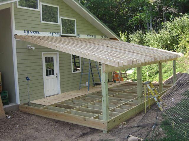 Slant roof shed plans decks pinterest porch, 10x12 pergola roof plans