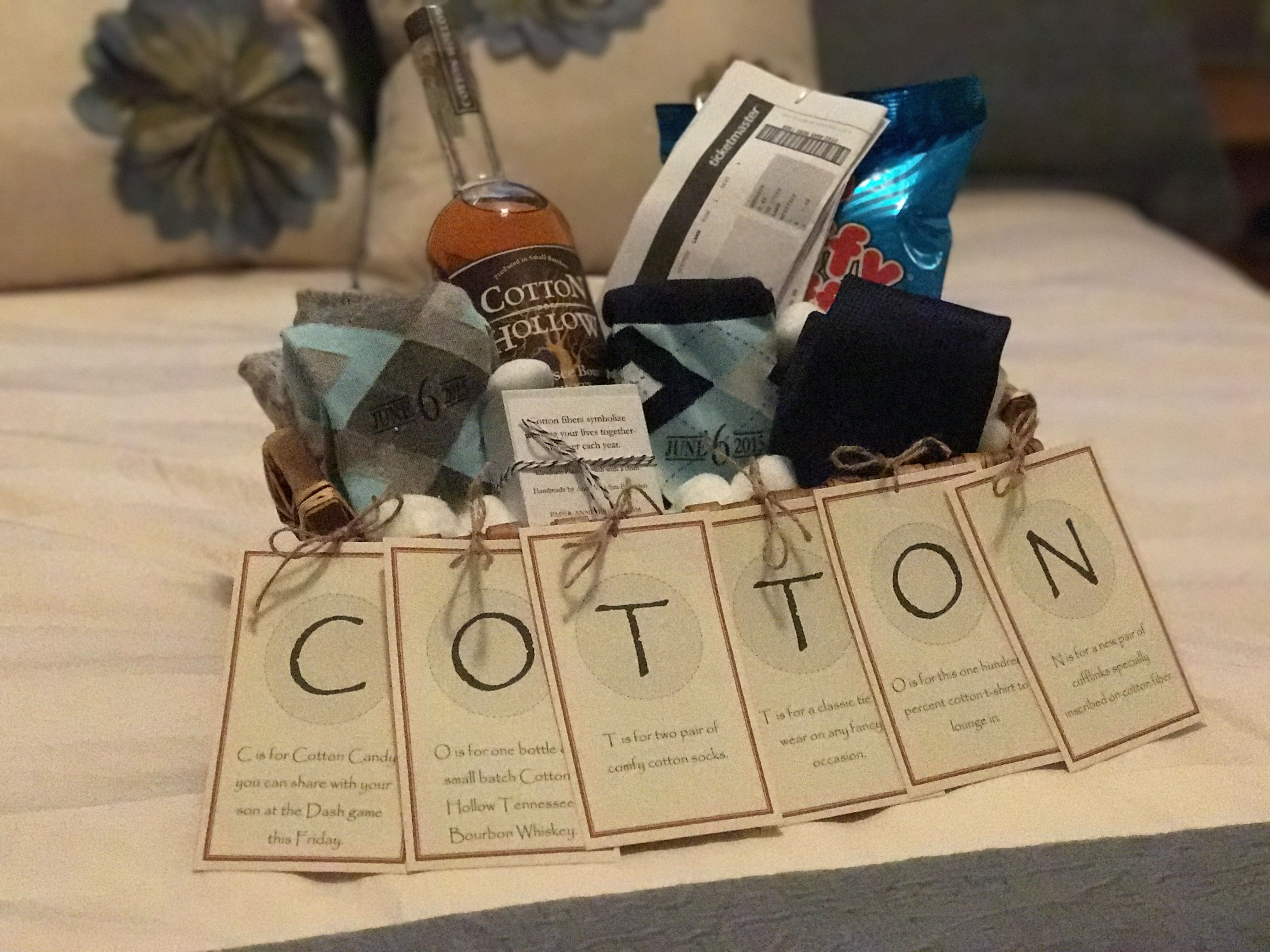 "The ""Cotton"" Anniversary - Gift For Him."