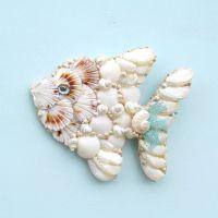 Angelfish, Fish Seashell Wall Hanging, Tropical Fish Angel ...