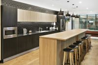 This stunning modern kitchen design is in polytec Natural ...