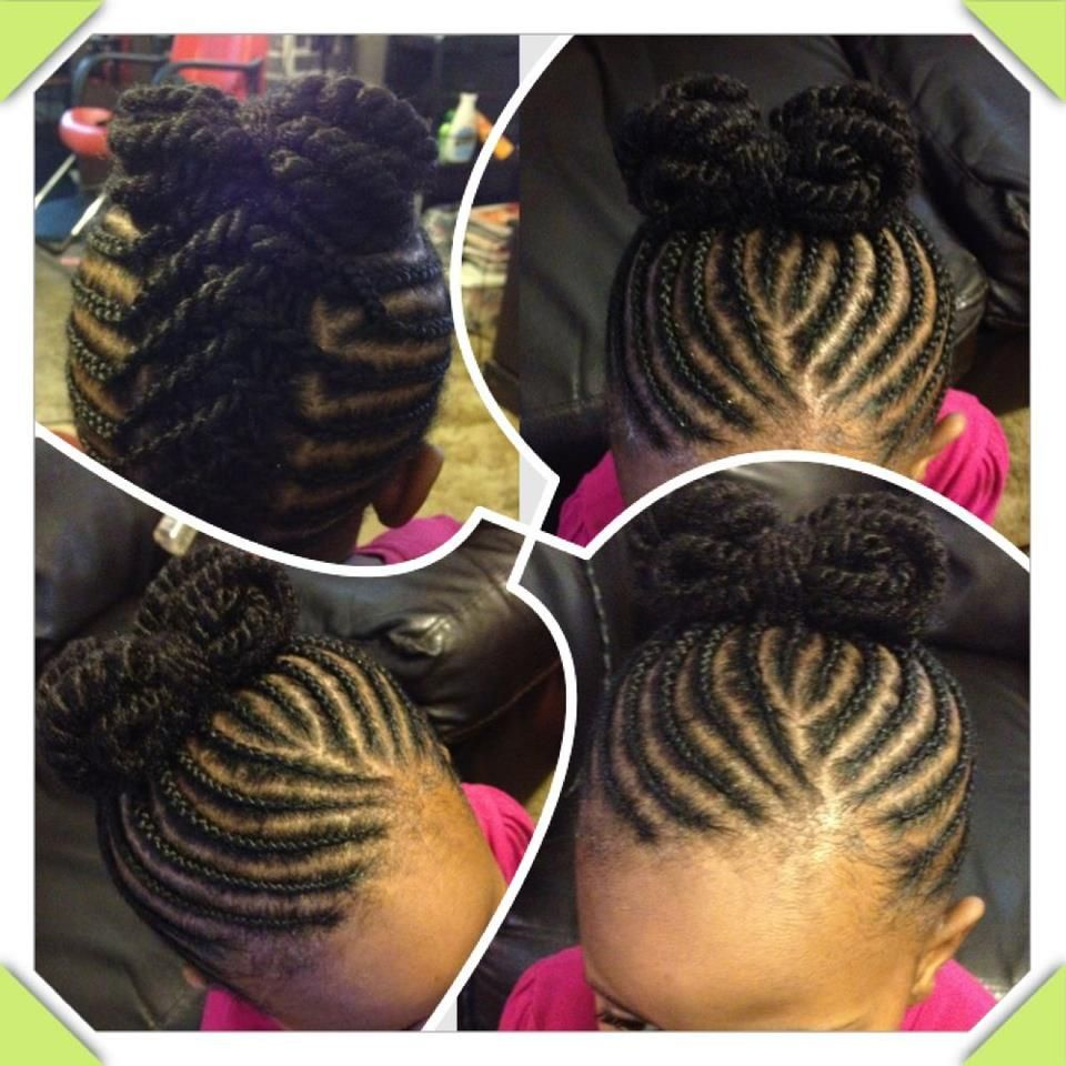 Super Cute Flat Twists Up Into A Bow Sweet Hairstyle For Little