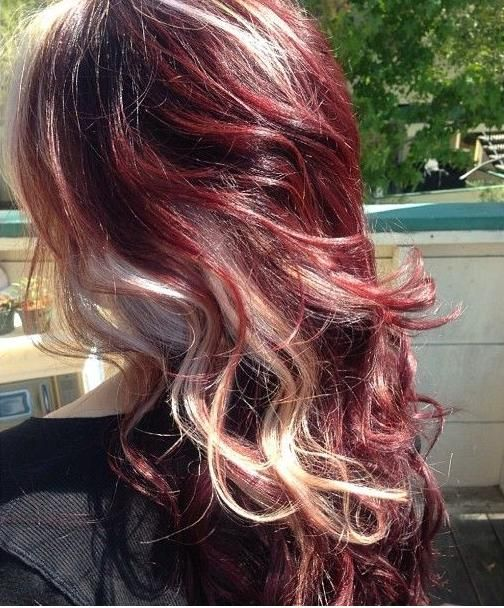 Burgundy hair color blonde highlights the best hair color 2017 best 25 burgundy blonde hair ideas on plum dye urmus Images