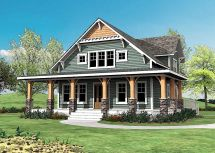 Craftsman Style House Plans with Wrap around Porch