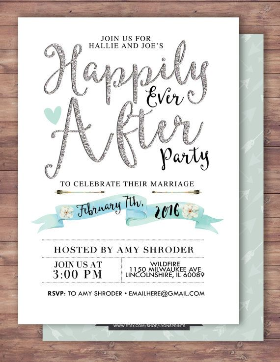 After Wedding Shower Invitations