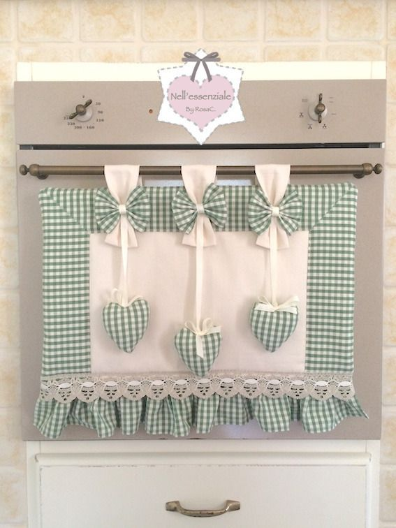 Set Cucina Shabby chic  CopriForno  Pinterest  Cucina Shabby and Patchwork