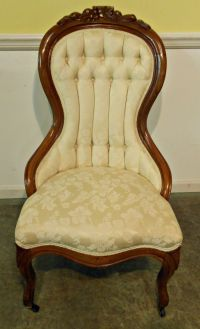 victorian chairs | 4461-1108 Victorian Upholstered Ladies ...