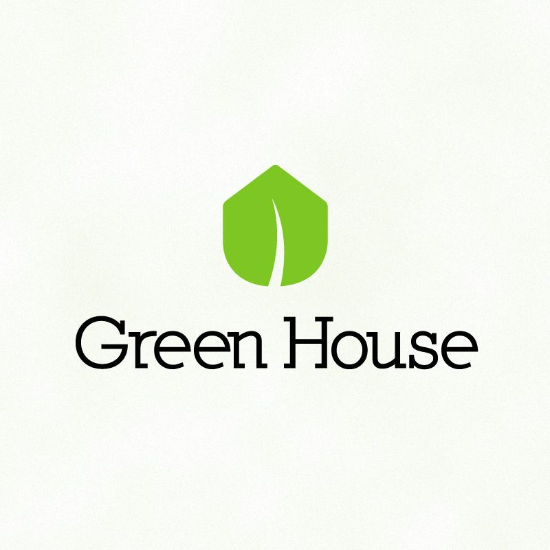 """""""green House"""" Logo  I Love Logos & Brands  Pinterest"""