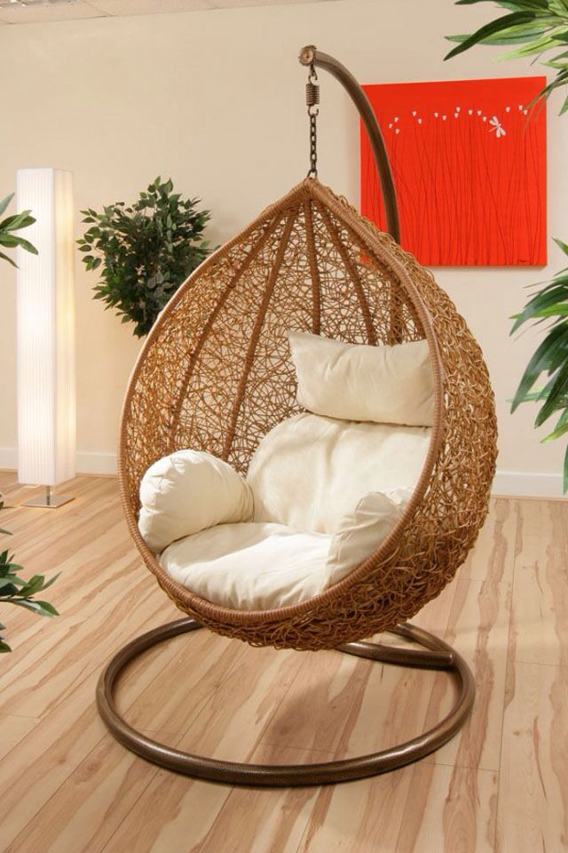 A hanging chair awesome httpsemfurncom  DIY Home
