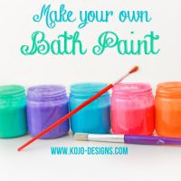 Love the colors! // make your own bath paint by ...