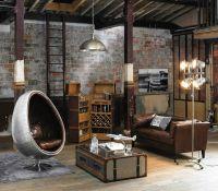 Salon industriel/loft (Maisons du Monde) | Apartment ...