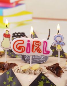 Birthday cake candles supply girl baby bottle nipple candle series sign set optional party also rh pinterest