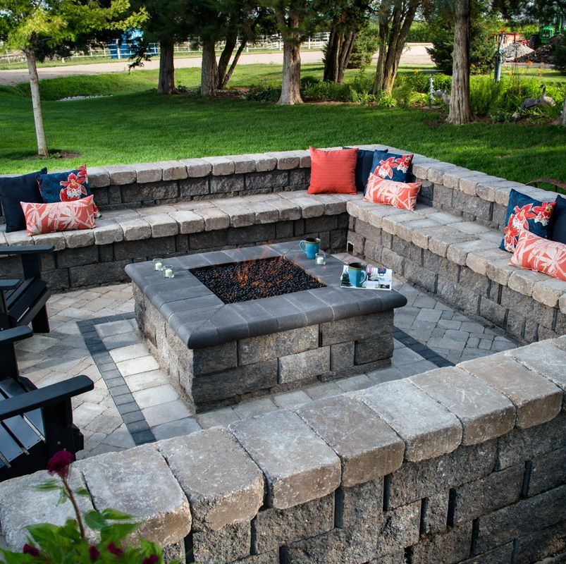 Square fire pits are the new round fire pit We love the
