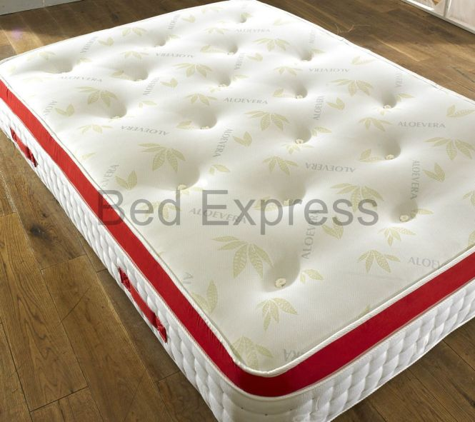 3ft Single Pocket Sprung Memory Foam Mattress Pillow Top Organic