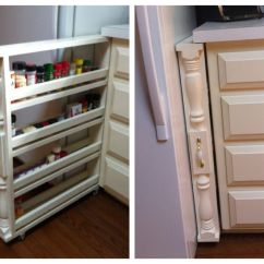 Kitchen Cabinet Spice Rack Lowes Stainless Steel Sinks Diy Rolling Organizer Love This Home