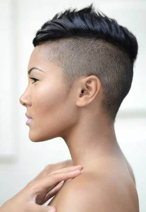 CUTE CHIC AND SEXY MOHAWK HAIRSTYLES FOR BLACK WOMEN WITH SHORT