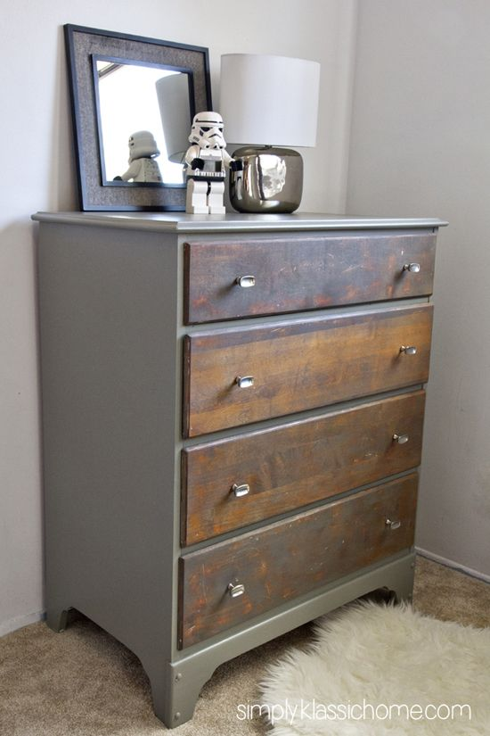 Stained Dresser on Pinterest  Two Toned Dresser Restoring Furniture and Unfinished Furniture