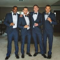 Navy blue and bowties | My groom and his groomsmen ...