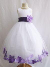 Eggplant Purple Flower Girl Dresses
