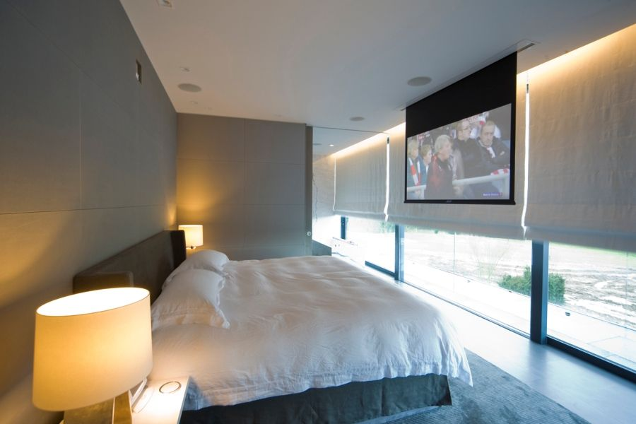 Projector Tv In Bedrooms We Probably Cant Build It In