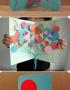 Creative homemade birthday card ideas valoblogi homemade handmade greeting card making ideas with balloons birthday cards pop up designs and more also m4hsunfo