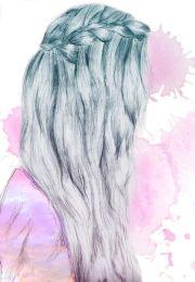 girl hair drawing - google