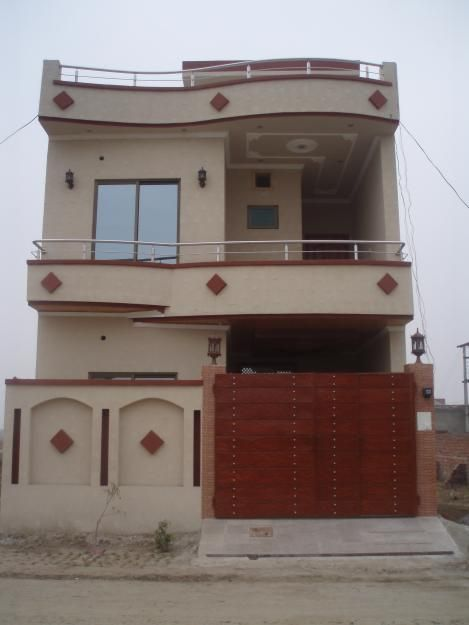 1 Kanal Spanish House Design Plan Dha Lahore Pakistan Housel 1