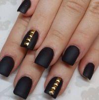Matte Black And Gold Nail Polish   www.pixshark.com ...