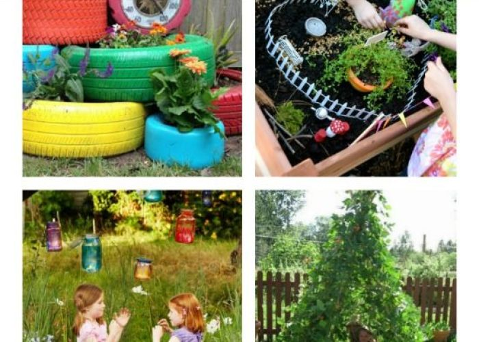 super creative garden spaces  ideas for kids these are so cool also