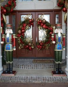 Nutcrackers for the front of house ft nutcracker pinterest beautiful double doors and also rh