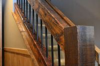 reclaimed wood railings | Log Railings & Log Stairs ...