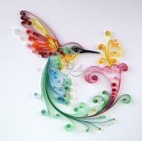 "Original Quilling Art ""Bird of Happiness"" NEW Framed ..."