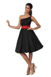 short red bridesmaid dresses with black | Top 50 Short-Red ...