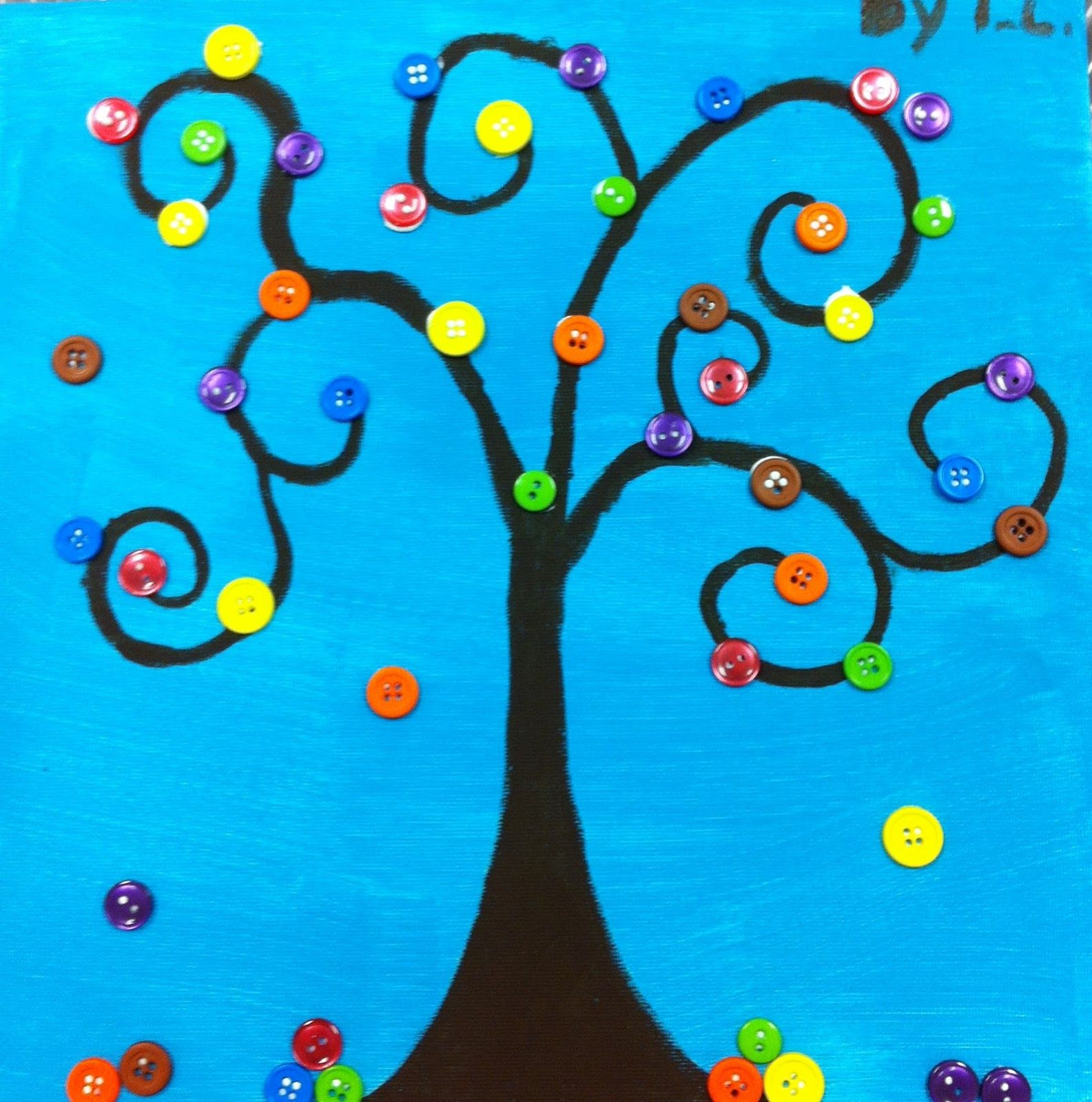 Angela Anderson Art Blog Button Trees