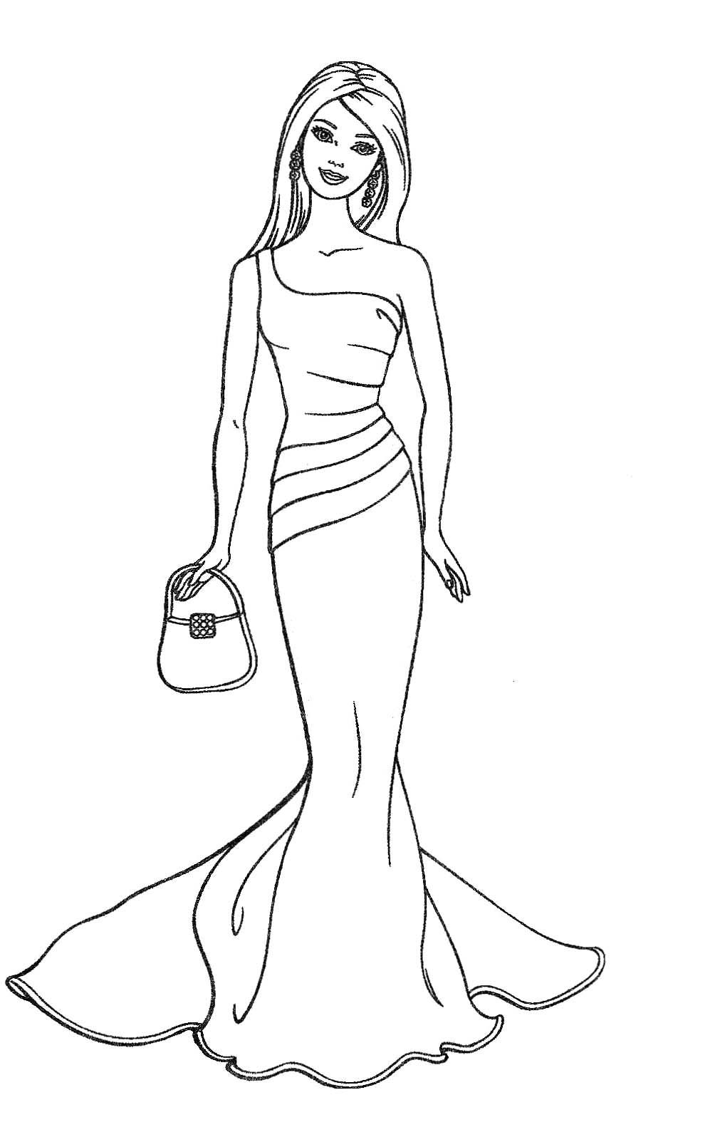 Barbie Fashion Dolls Coloring Pages Coloring Activity Pages