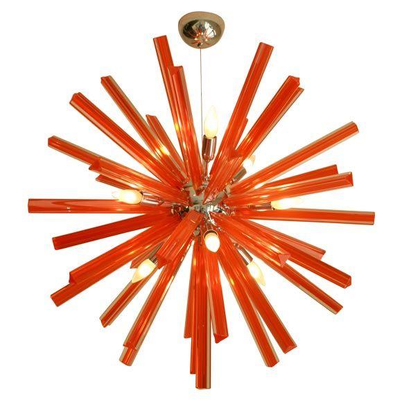 Murano Glass Rare Orange Sputnik