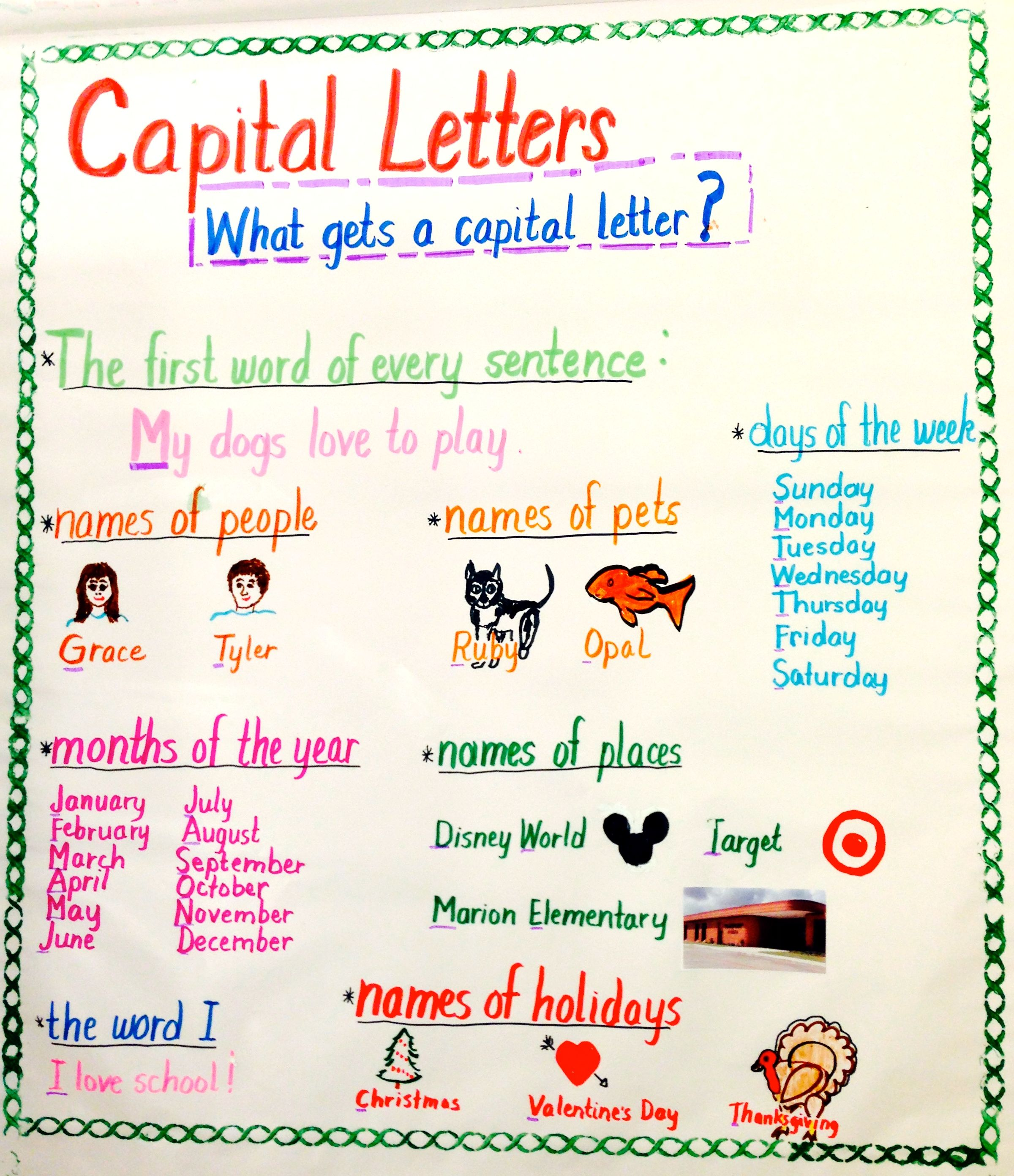 Which Words Begin With A Capital Letter