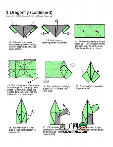 How To Make A Origami Dragonfly Step By Origami Tutorial Lets