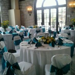 Chair Covers Cheap Walmart Stackable Chairs Yellow And Teal Wedding Reception Centerpieces   My Designs Pinterest Weddings ...