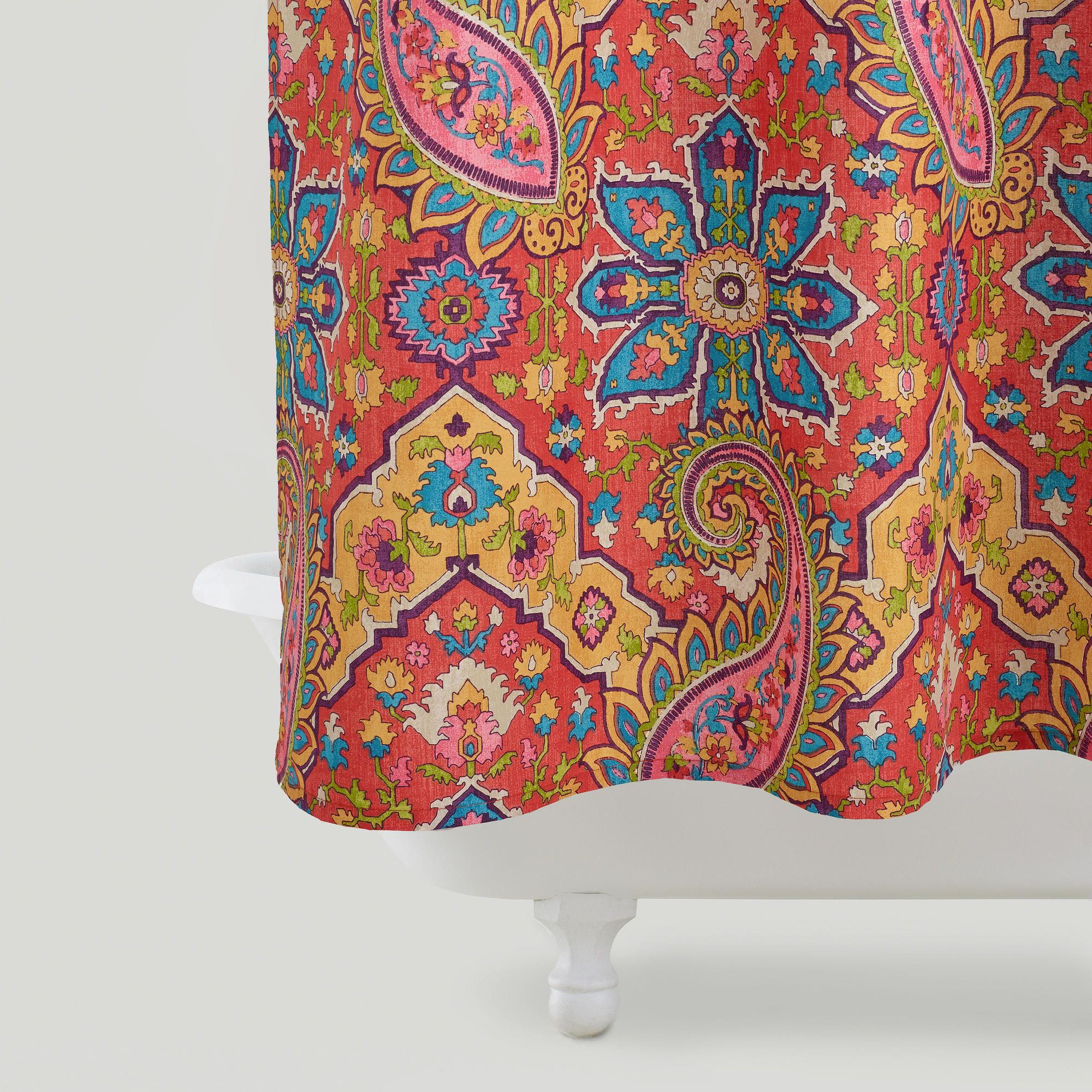 Lovely Phoebe Paisley Shower Curtain Duvet Covers World And Products