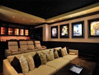 Simple Basement Home Theater Room : Decorating Ideas for ...