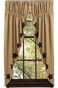 New Primitive Country Sturbridge BLACK STAR BURLAP Prairie ...