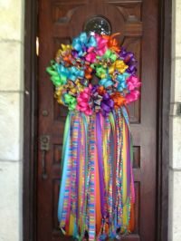 Fiesta Wreaths from San Antonio made of yards and yards of ...