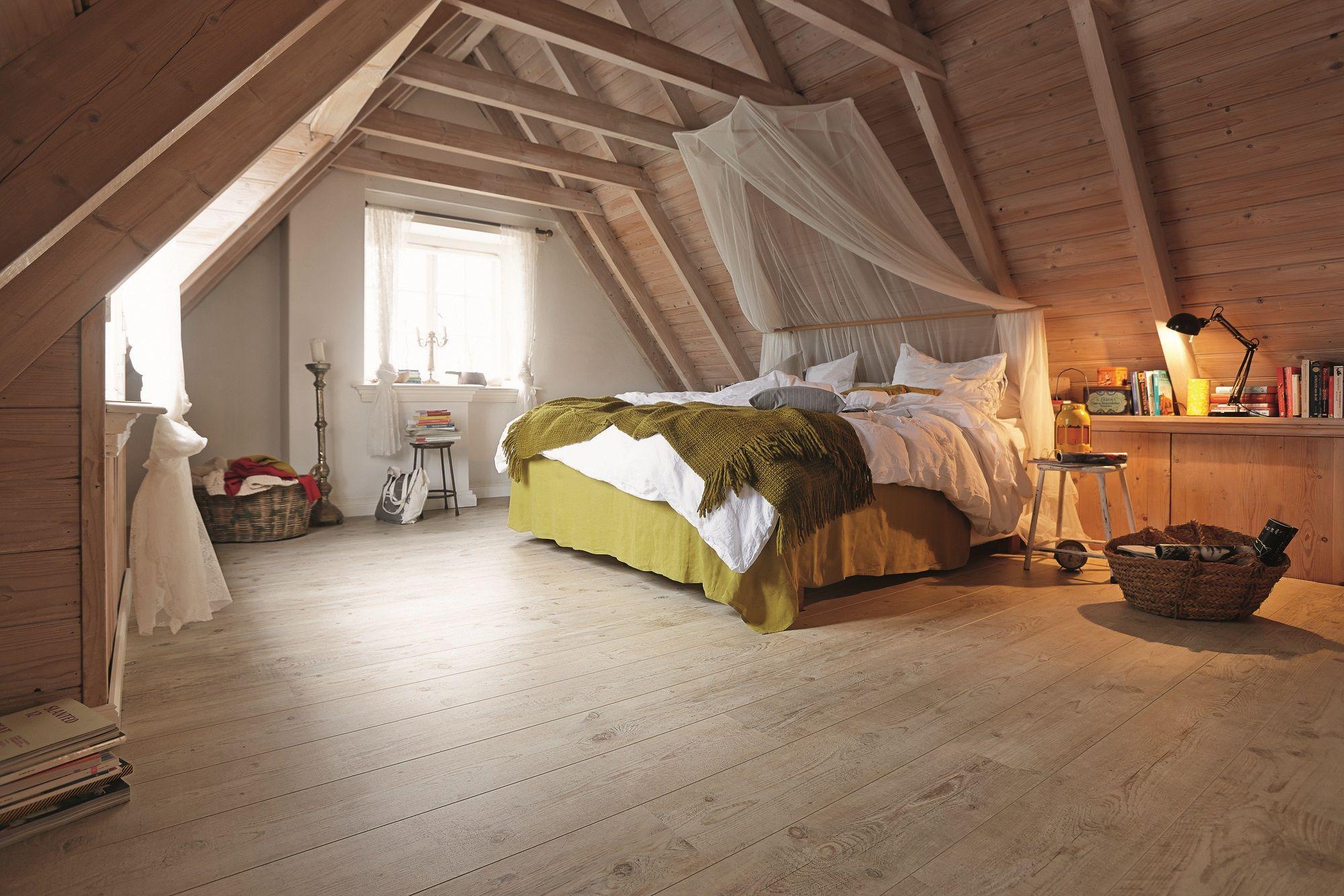 Slaapkamer hout met laminaatvloer  MEISTER Laminaat LD