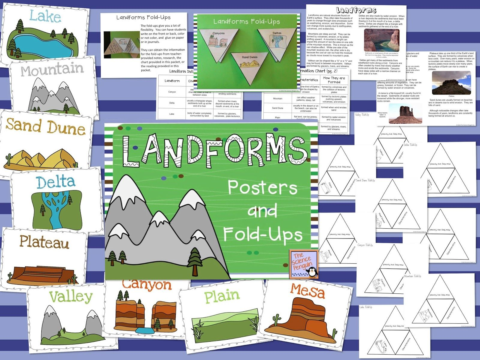 Landforms Fold Ups