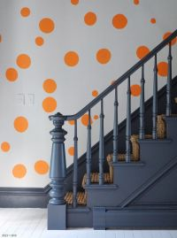 Painted stairs in charcoal with gray painted floors ...