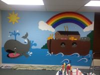 Wall mural for Sunday school!   My Crafts!   Pinterest ...